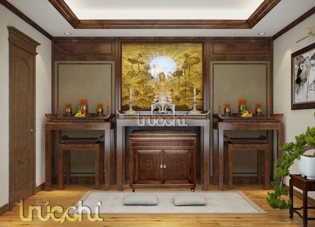 Phòng thờ trúc chỉ - Mẫu PT11