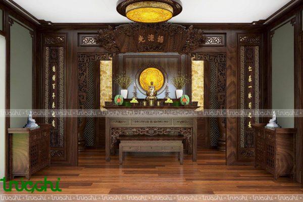 Phòng thờ trúc chỉ - Mẫu PT02