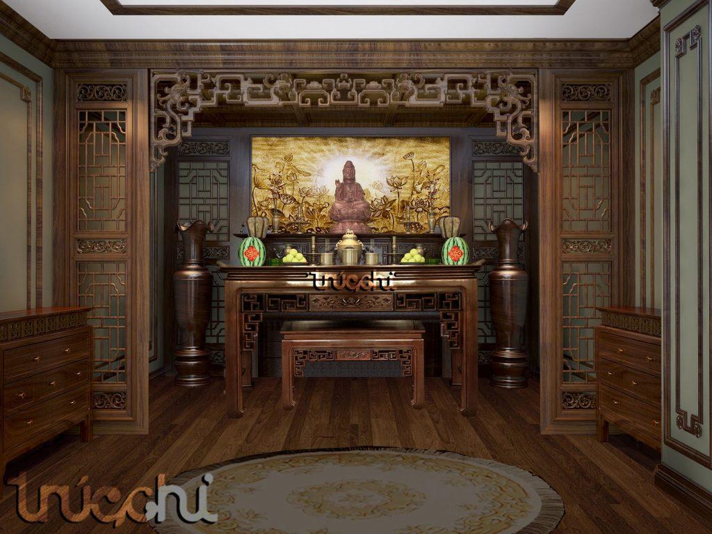 Phòng thờ trúc chỉ - Mẫu PT03